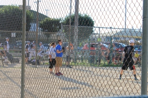 We attended a softball game that Garrett played in with his Twenty Somethings church group.