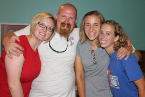 Mission Discovery staff for week 4:  Cara and Nate Ryver, Lauren Kemp and Hannah Denney.