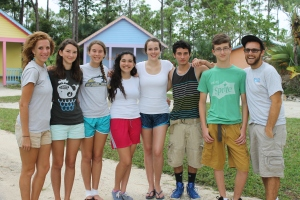 Immersion Camp campers with their leaders, our very own Katie Morris and Michael Chatigny.