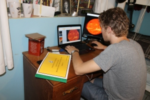 Logan has begun work on helping Mark put together a new planetarium presentation for the planetarium at the Centre.