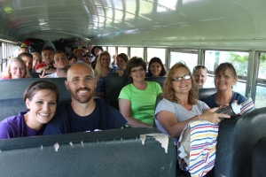 "The first ""BIG"" see-you-later was to the Peace Church youth group.  They headed to the airport around 10am."