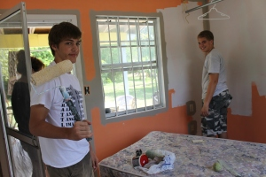 Liam and Zachary worked on projects;  the first project was painting Tim's new office space.