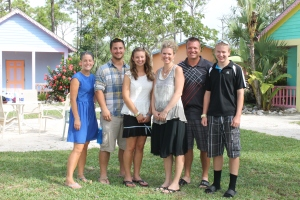 On Monday afternoon, it was time to say good-bye to Joel, Dawn, Carissa and Austin Stauss and Julia Williams and James Quick.   We had enjoyed getting to know and serve this family.  They spent most of their time at the Centre working with the Day Camp.  We are looking forward to having them back some day.
