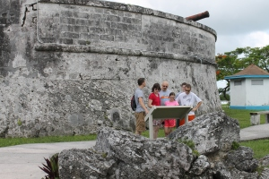 While Tim took the Eikon group to the airport, I drove the Mischels up to see Fort Fincastle and the Queen's Staircase before taking them to the port to board their ship.