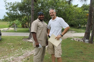 Scott Hamilton is the contractor who built our electric meter house and is now working on finishing the staff cottages.