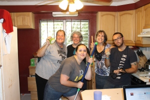 """On Saturday morning, these 3 ladies from the Metro Life group came to our house to """"bless us"""" by helping us clean our cupboards."""