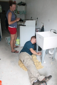 Plumber Jack also installed a laundry sink in the bath house laundry room!
