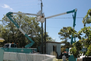 BEC was back this week to hang the electric transformers.  One step closer to a full electric upgrade.