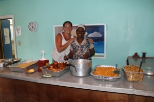 Dani and Ms. Aida made ALC staff an everything conch meal one evening.  Yummy!