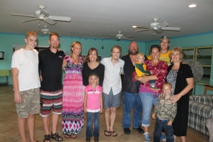 The team led by Dani Miller from Wausau, Wisconsin spent 16 days in the Bahamas.  This is the day they left.  We knew everyone (except Jack and Raenell) from when we lived in Wisconsin and before.  It was like having family here for two weeks, and it made it hard to tell them good-bye.  They spent a good part of their time here working at All Saints Camp, but the work they did do here at the camp and centre was a huge blessing to all of us.  They are hard workers.  Thank you for your help!