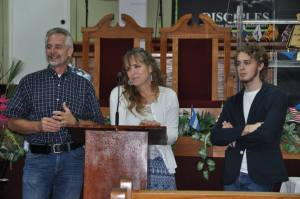 Wednesday, September 18, 2013, Tim, Mindy and Logan spoke.  Tim spoke on prayer.  Mindy shared our family journey into ministry.  Logan shared the challenges and blessings of moving to a foreign mission field as a teenager.
