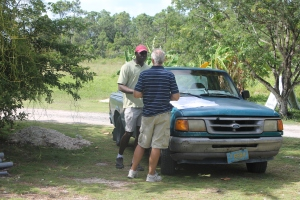 Fabian, our electrician, has been helping us work through the tedious process of getting code inspections completed so we can get the electric upgrade finished.  Another Bahamian bureaucratic, logistical nightmare!   It is taking time and no one seems to know for sure what to do, but as we keep praying, we know God will work things out.  We are waiting for several sign-offs from works departments, plumbers, electrical, etc so we can get our certificate of occupancy for the bathhouse.  Once that is done, we can get the electric meter for the bath house and have BEC turn on power and finish the electrical upgrade.  Almost there!