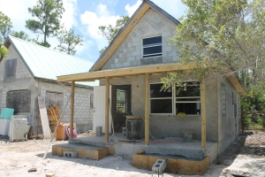 Progress on the staff cottage continues.  This was taken 1 1/2 weeks ago