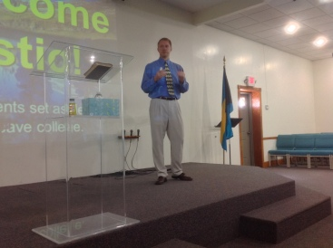 On Sunday, Jay spoke at Kingdom Life Church.