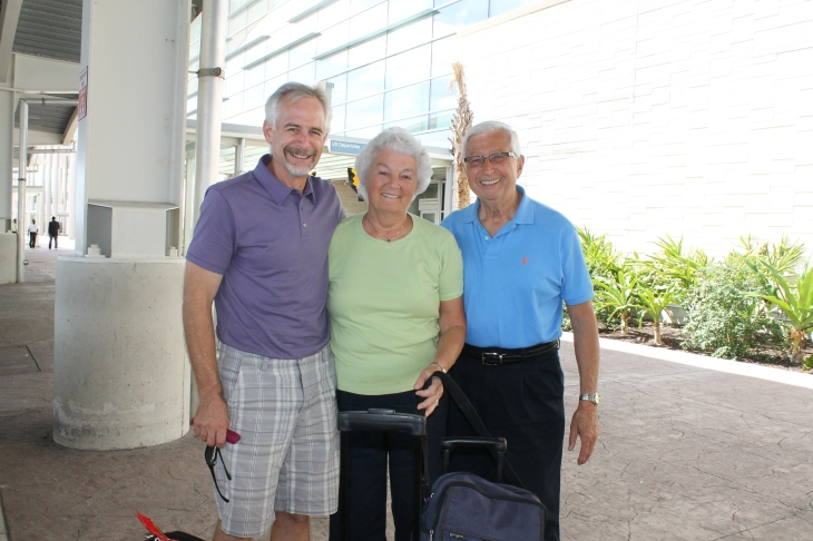 On Monday, September 23rd, we took Roger and Grace Grebe to the airport.