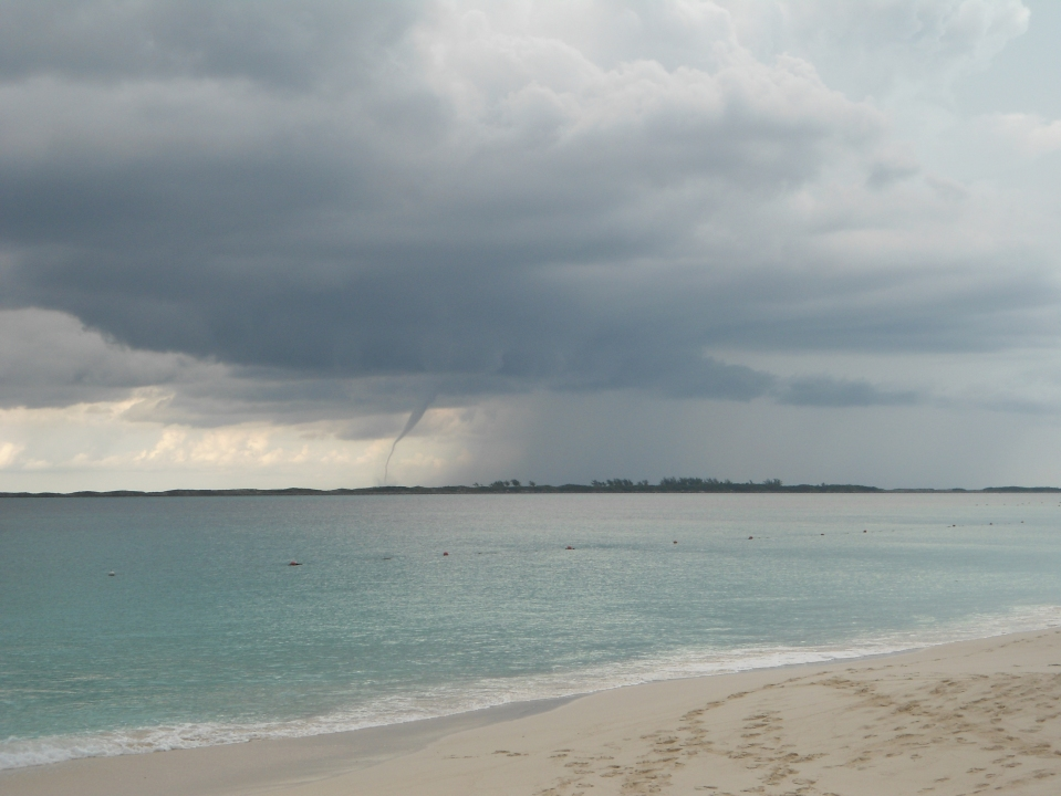 A better picture of the water spout.