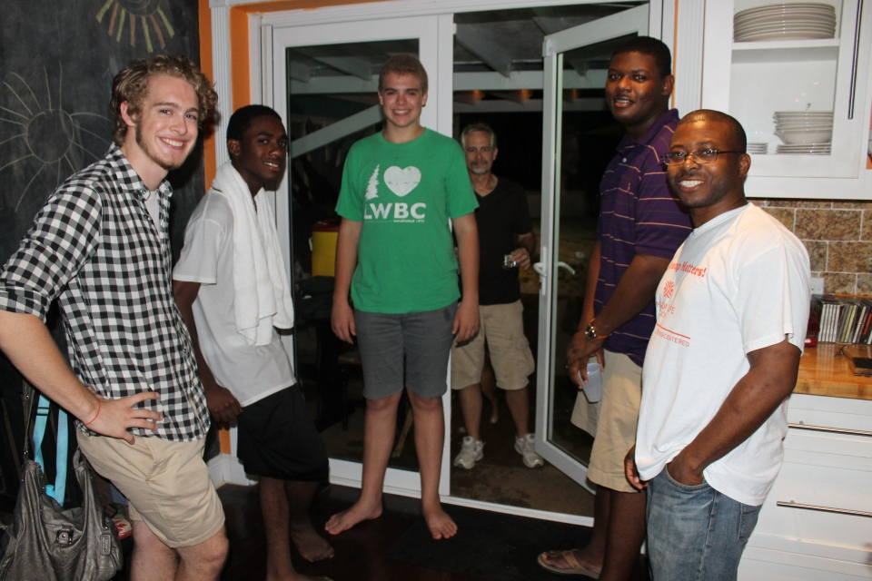 Counter Culture at the Bunting's house.  Some of the guys in the youth group with Clarence, the leader of Counter Culture.