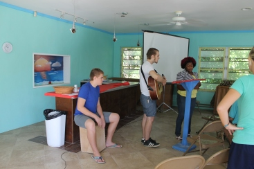 On Saturday morning, after a good Bahamian breakfast of tune, corn beef, and grits (yummy!) made by our very own Ms. Aida, we began the session with a time of worship led by our very own TIka Penn, Logan and Zachary.