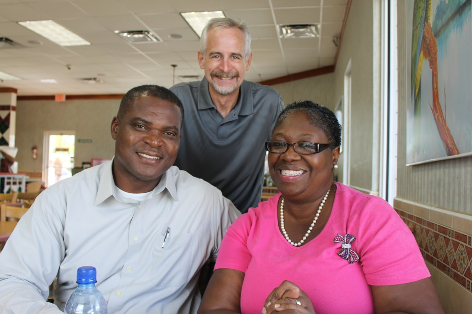 This couple, Yvonne and   , attend Christ Community Church.  They met when they attended Joy Bible Camp (now Adventure Learning Camp) as young people.   We had lunch with them last week.  What a joy it was to meet these people and hear their story.