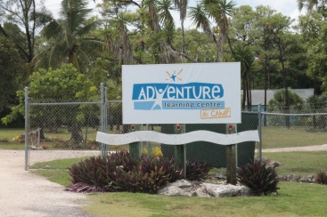One of the projects was the erecting of the new sign at Adventure Learning Camp