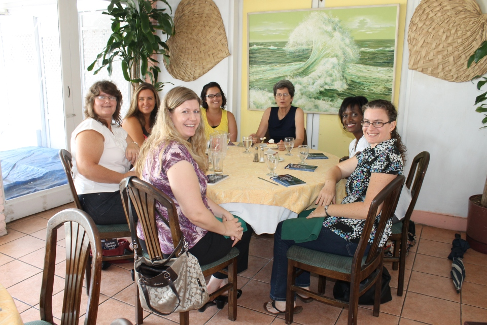 Mindy had lunch with the other leaders of the Thursday morning lady's Bible study she attends every week.