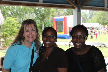 Our pastor's wife and daugther, Alexine and Abby Moss, were among the many volunteers that helped us man the activities of the Funday.
