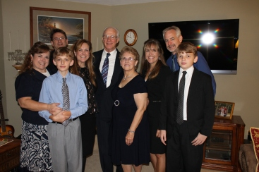 Those of us that met in Indiana for the wedding: Tammy and John with their sons Dylan and Connor, Missy, Dick and Mom.