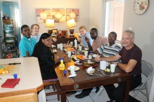 On Sunday, we had the College of Bahamas students that attend our church over to our house for lunch.