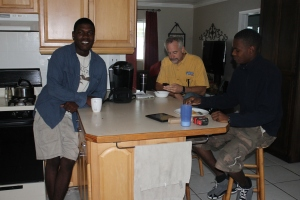 Kevin Poitier (Left) and Elton Deetjen (Right).  We sure enjoy having these young men around.