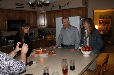 We returned back to our parent's house where Tammy and Mom had planned a little surprise birthday party for Tim.  It was his 53rd birthday that day!