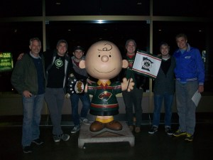 ...the guys enjoying a Minnesota Wild hockey game...