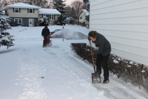 ...not having to miss this wonderful pass time this year--shoveling snow...