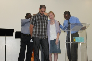 On December 15th, Kingdom Life church told USA/Canada residents, Alissa and Blair Finley, good-bye.  The Finleys were going back to Canada after their year here working in Nassau.  The Finleys are going to be missed.