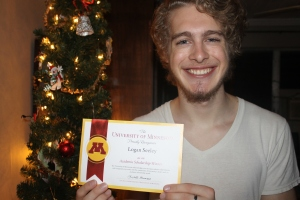 Logan received an academic scholarship award letter from University of Minnesota today!