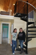 Jen Rogers and Michelle Brisbin arrived back in Nassau on January 6.  We gave them a tour of their future home, the girl staff cottage.