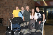 Boarding the plane in Charleston, SC for Nassau on January 16, 2013.