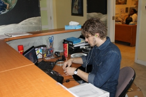 One project Logan is working on during his time at the Centre is scanning slides for the Planetarium show.