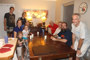 We were able to invite Billy and Leah Slater and family over for a meal with Tim's parents as well.
