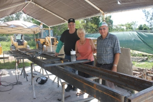 For a week, a friend of Bob and Faye's came to help construct/weld a new frame for the train that was broken in September.  Andy was a huge blessing to the ministry and donated his time and talents to serve the Centre in this way.  Thank you, Andy!