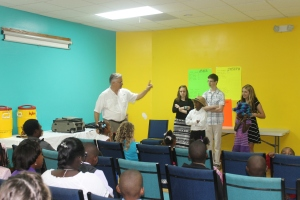 ...on Sunday, TKA with Randy Grebe came to our church to work with the children's program.