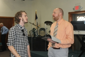 Doug Plank held a worship seminar at church, and Logan was involved.