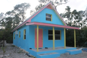 One of the projects that TKA, Judson and James Madison worked on was painting the exterior of the girl staff cottage.