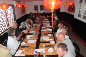 Peace Church blessed the missionary staff by taking them out to dinner at a Chinese Restaurant while they were here.