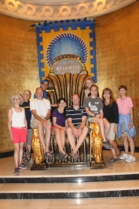 On Wednesday, the group took a day off from work projects and went downtown to shop, eat at the Fish Fry and go to Cabbage Beach.  That evening, as we like to do with all our big groups, we (Tim, Zach, Logan and me) split the group into 4 smaller groups to tour Atlantis.