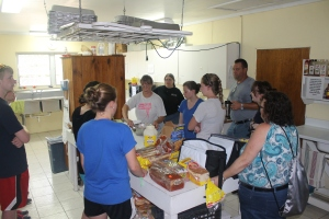 ...providing lunches to one of the island's other ministries, All Saints Camp...