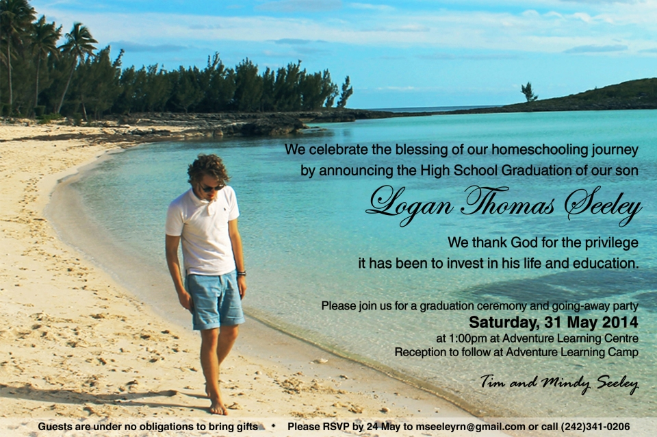 Logan's Graduation invitation