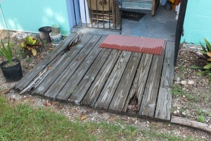 The before picture of the back porch or our house...