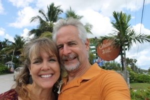 Anniversary selfie in front of the Orange Hill resort.  Tim took me to this resort for the night between my birthday and our anniversary.
