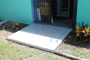 And the after picture of the back porch of our house.  Thank you everyone for this great addition!