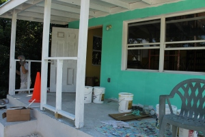 Judi and the facilitators have been working on painting the cottage inside and out.